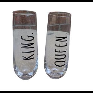 Rae Dunn Bride & Groom Stemless Flute Gifts Set